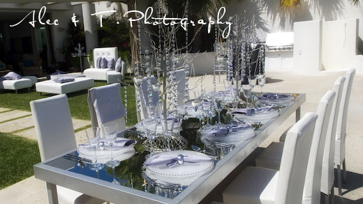 Elegant Cabo wedding  Set up